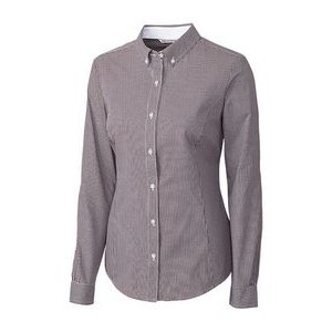 Cutter & Buck® Ladies' Long Sleeve Epic Easy Care Gingham Shirt
