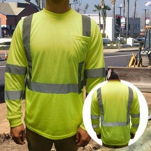 Class 3 Neon Green Safety T Shirt ANSI 107-2015